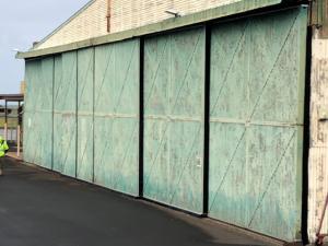 Airport Hanger Doors Proofed Off with Door Bristle Strips